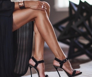 black, cool, and heels image