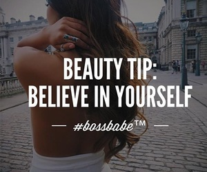 quotes, yourself, and bossbabe image