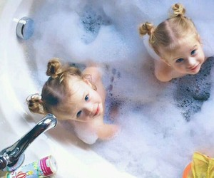 kids, baby, and bath image