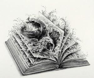 art, blackandwhite, and creativity image