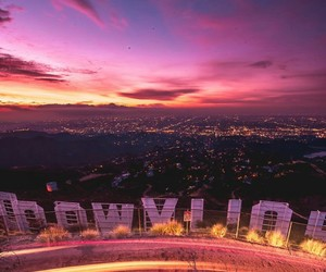 alternative, hollywood sign, and cali image