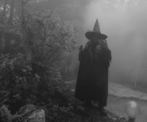 black and white and witch image