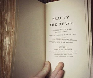 book, beauty and the beast, and vintage image
