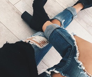 aesthetic, denim, and dress image