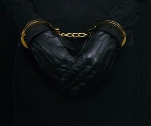 black, gloves, and handcuffs image