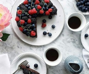 berries, blue, and chocolate image