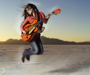guitar, music, and jump image