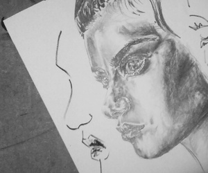 drawing, pencil, and woman image