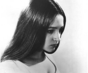 black and white and Olivia Hussey image