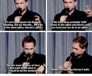 funny, patrick j adams, and ‎suits image