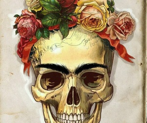 skull, frida kahlo, and Frida image