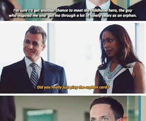funny, mike ross, and harvey specter image