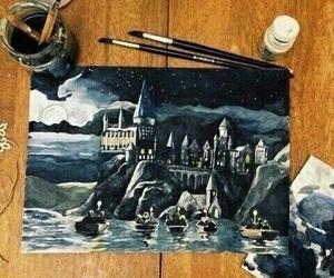 hogwarts, art, and harry potter image