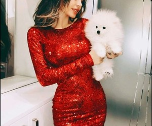 dress, fluffy, and girl image