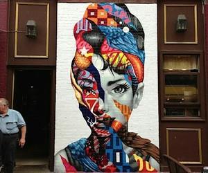 art, audrey hepburn, and street art image