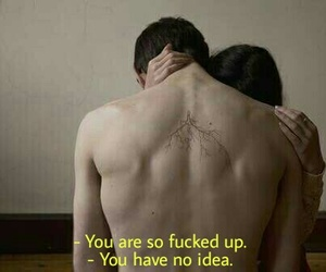 couple, dark, and sad image