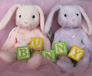 bunny, little, and plushie image