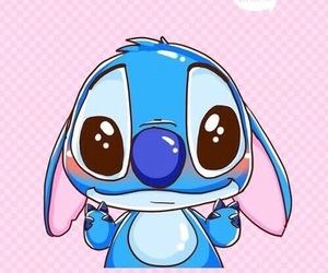 stitch, blue, and wallpaper image