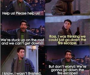 joey tribbiani, ross geller, and quote image