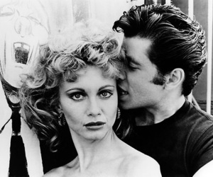 grease, John Travolta, and couple image