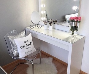 makeup, room, and chanel image