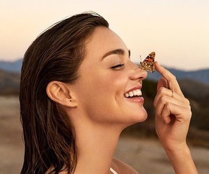 girl, miranda kerr, and butterfly image