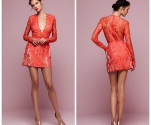dress, elegant, and korall image