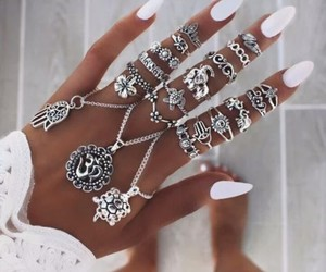 beautiful, jewerly, and nails image