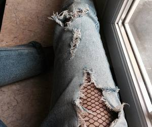 fishnet, jeans, and moda image