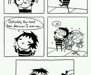 hair, funny, and sarah andersen image