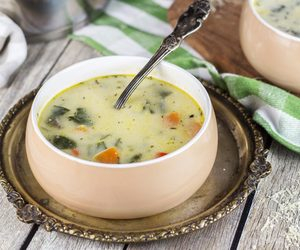 cheesy, poultry, and soup image