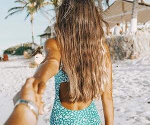 beach, braid, and fashion image