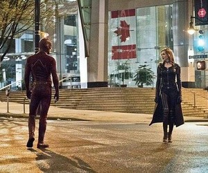 flash, katie cassidy, and barry allen image