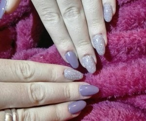 gel, nails, and purple image