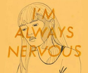 aesthetic, nervous, and yellow image