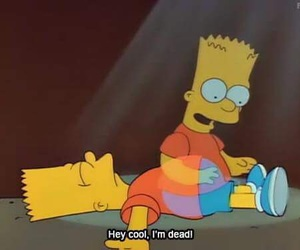 dead, bart, and simpsons image