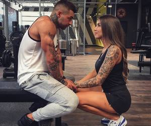 couple, fit, and love image