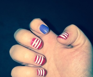 america, nails, and flag image