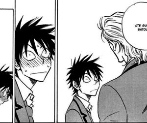 black and white, monochrome, and manga image