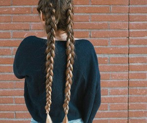 beauty, braid, and fashion image