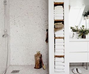 bathroom, white, and home image