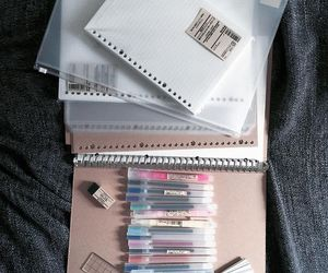school, stationery, and pen image