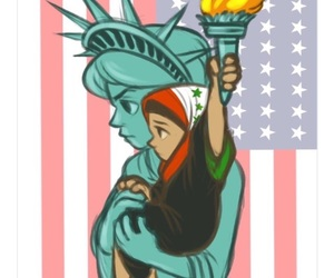 america, refugees, and trump image