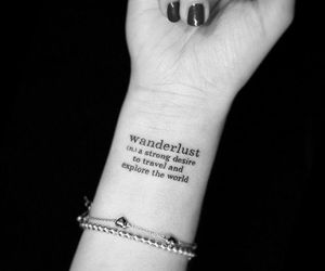 tattoo, wanderlust, and travel image