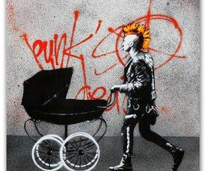 baby, cigar, and punk image