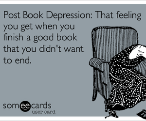 book, end, and depression image