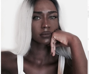 black, blond, and woman image
