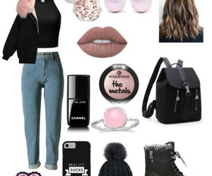 black, Polyvore, and chic image