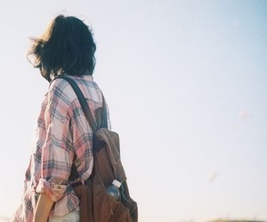 girl, vintage, and travel image