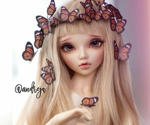 bjd, butterfly, and crown image